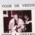 Aankondiging optreden T-Beng tijdens manifestatie Help de Koerden uit de Nood in 1991 te Groningen