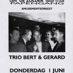 Aankondiging optreden T_Beng in café De Zolder te Groningen