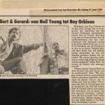 Aankondiging uit Nieuwsblad van het Noorden over optreden T-Beng  in café De Smederij te Groningen