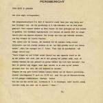 Persbericht van de heer Hans Lisser over optreden T-Beng in café Merleyn